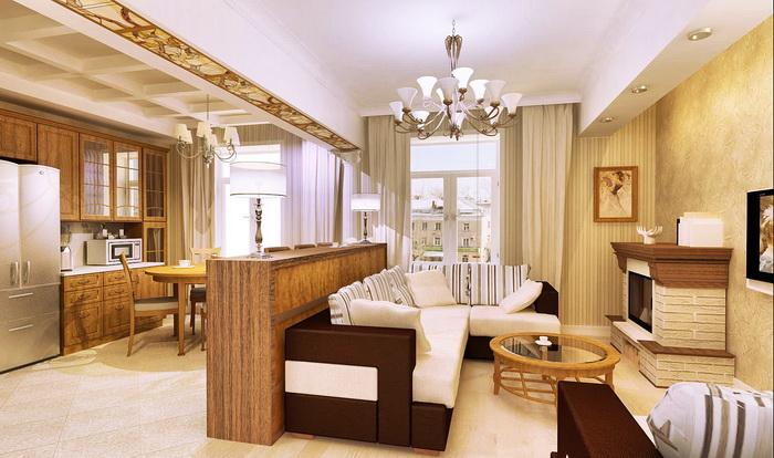 Кухни гостинная дизайн в одном
